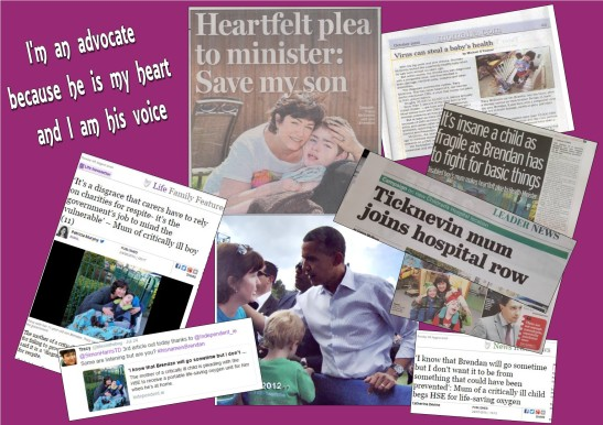 newspaper articles collage