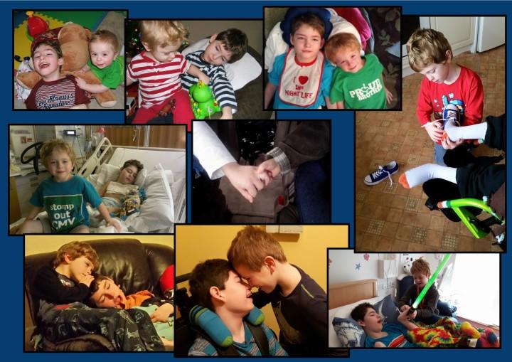 collage of boys pics