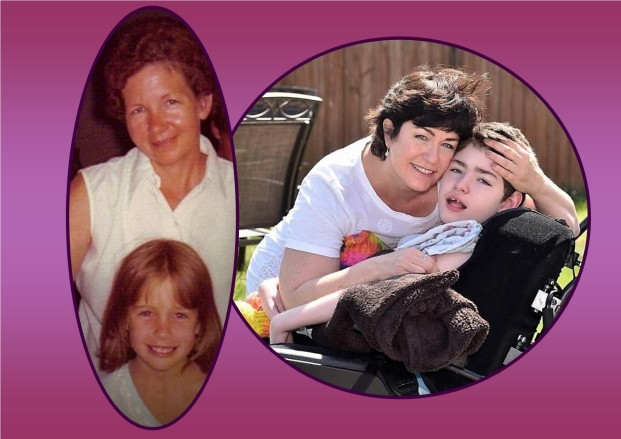 me and mom and me and brendan collage 2